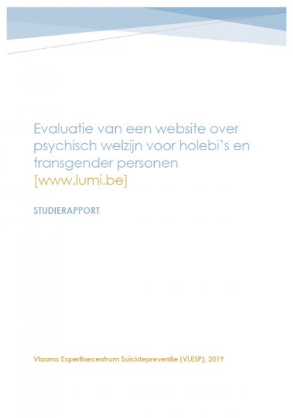 Evaluatie van een website over psychisch welzijn voor holebi's en transgender personen