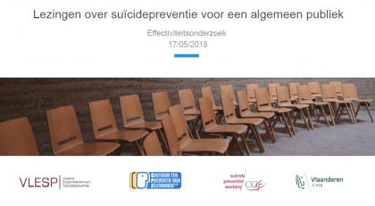 Lezingen over suïcidepreventie voor een algemeen publiek