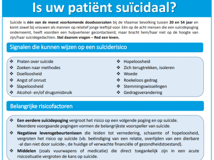 Poster campaign for the prevention of suicide
