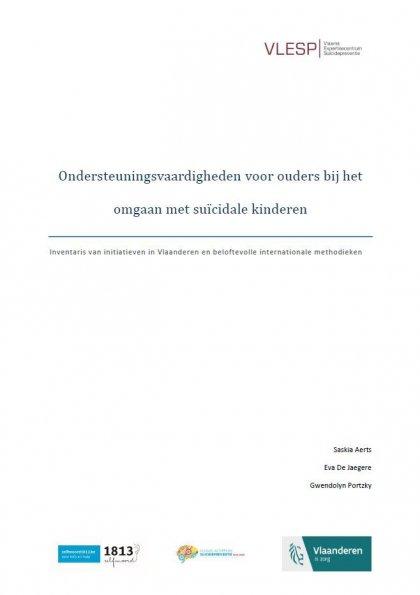 Rapport ondersteuningsvaardigheden voor ouders bij het omgaan met suïcidale kinderen