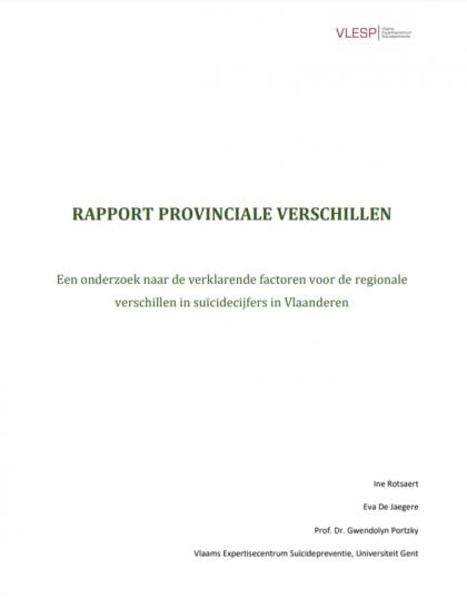 Rapport provinciale verschillen